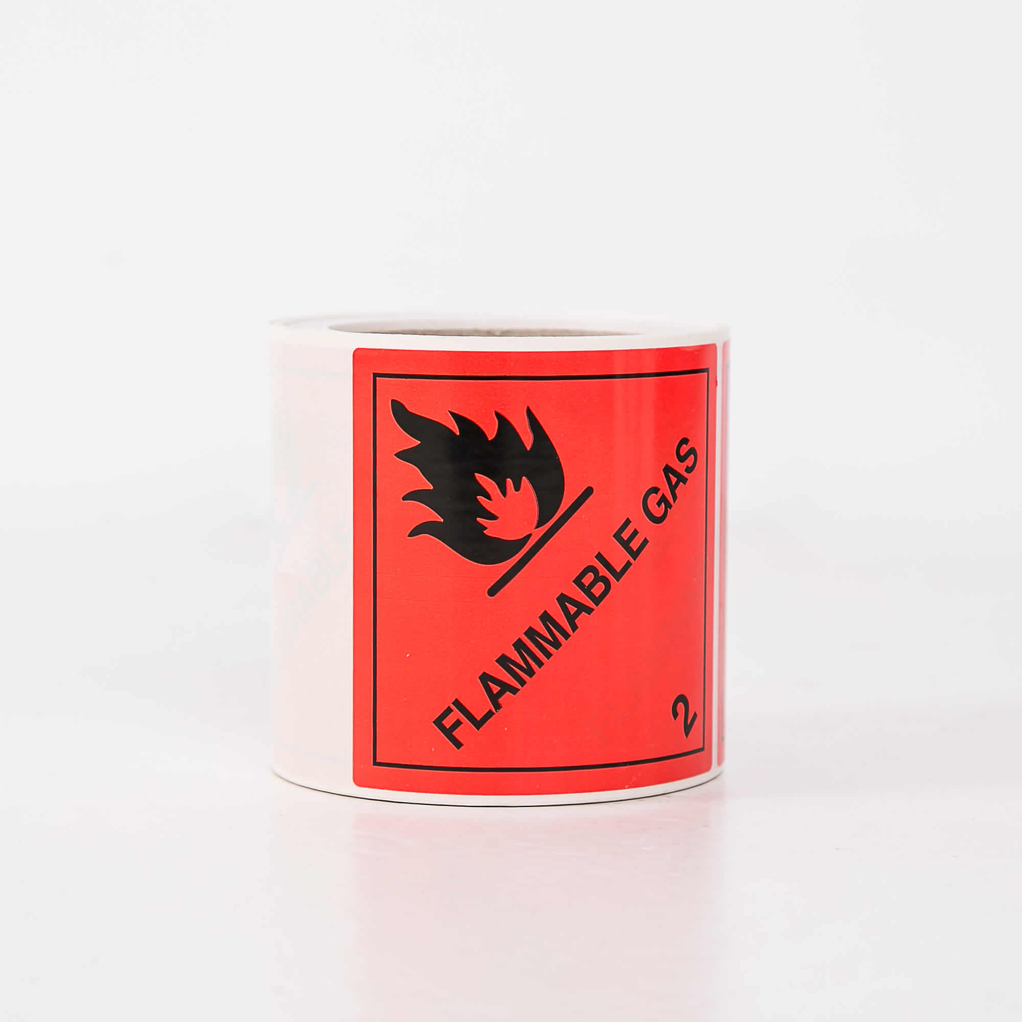 Package Label Class 2.1 Flammable Gas - Roll of 250 Labels - 100mm