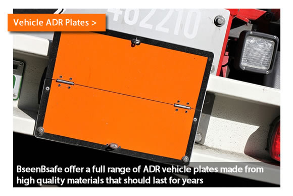 BseenBsafe offer a full range of ADR vehicle plates made from high quality materials that should last for years